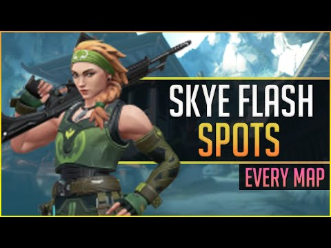 Skye Flash Spots on EVERY Map - Skye Attack Guide - Valorant
