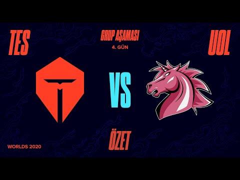 Top Esports ( TES ) vs Unicorns of Love ( UOL ) Maç Özeti   Worlds 2020 Grup Aşaması 4. Gün