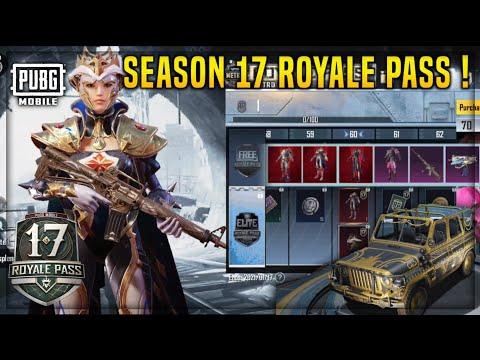 PUBG MOBILE SEASON 17 ROYALE PASS REWARDS 1- 100🔥 | UAZS IN RP ? TIER REWARDS , NEW PREMIUM CRATE !