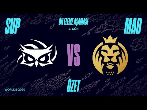 Papara SuperMassive ( SUP ) vs Mad Lions ( MAD ) 1. Maç Özeti | Worlds 2020 Ön Eleme 2. Tur
