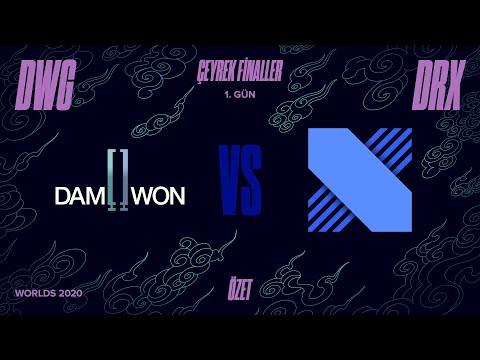 DAMWON Gaming ( DWG ) vs DRX 1. Maç Özeti   Worlds 2020 Çeyrek Final
