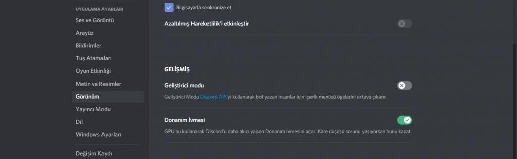 discord setting