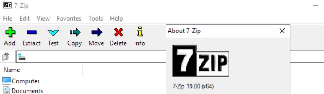 7-Zip arşiv ve sıkıştırma yazılımı